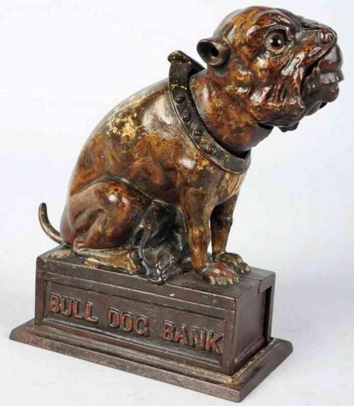 stevens co j. & e. 200 spielzeug gusseisen bulldogge als spardose