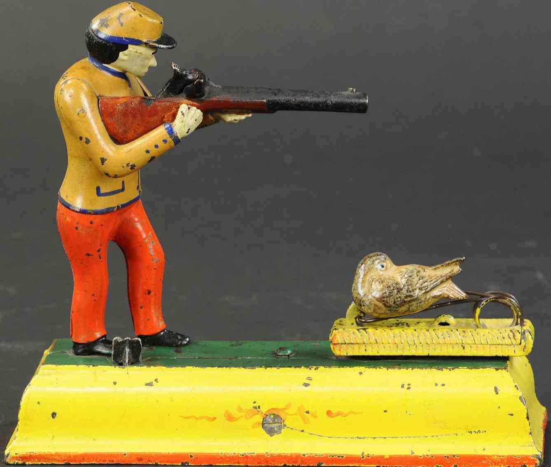 stevens co j & e 328 cast iron toy fowler sportsman bank