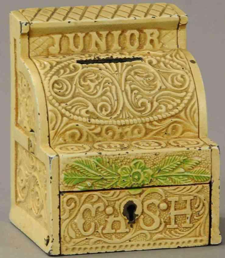 stevens co j & e spielzeug gusseisen junior kasse spardose schluessel