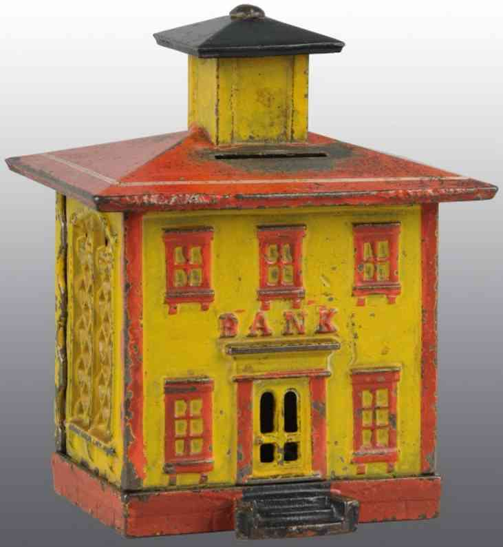 stevens co j & e cast iron toy cupola still bank