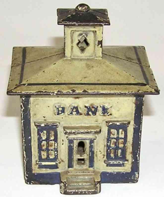 stevens co j & e cast iron toy cupola still bank