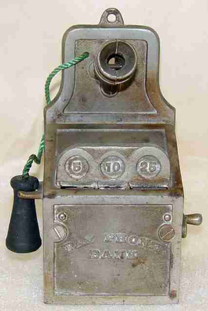 stevens co j & e 128 gusseisen spardose muenzfernsprecher telefon