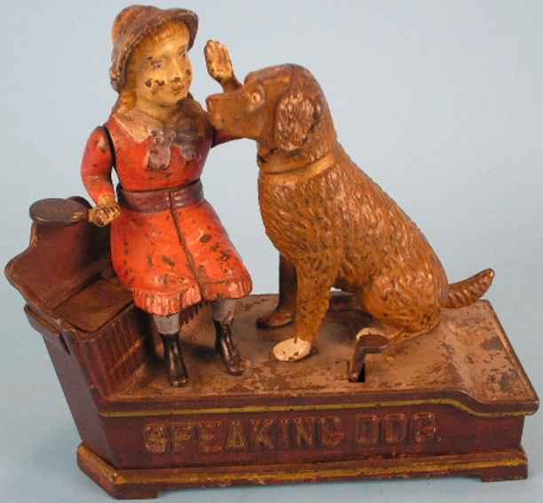 Stevens Co J. & E. 330 Spardose Speaking Dog Bank