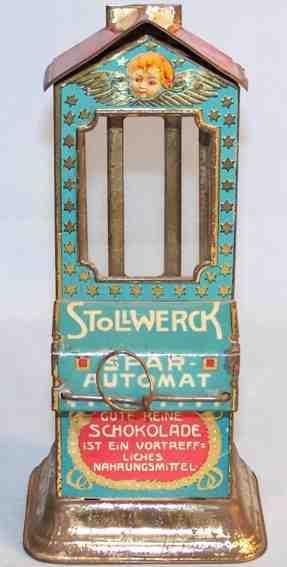 stollwerck blech spielzeug schokoladenautomat engel
