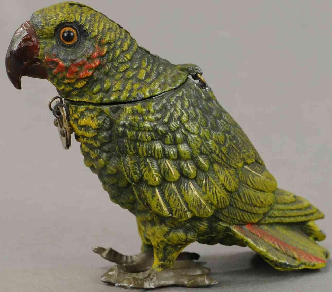 spielzeug gusseisen papagei aus zinklegierung hat einen klappbaren kopf fester kiefer