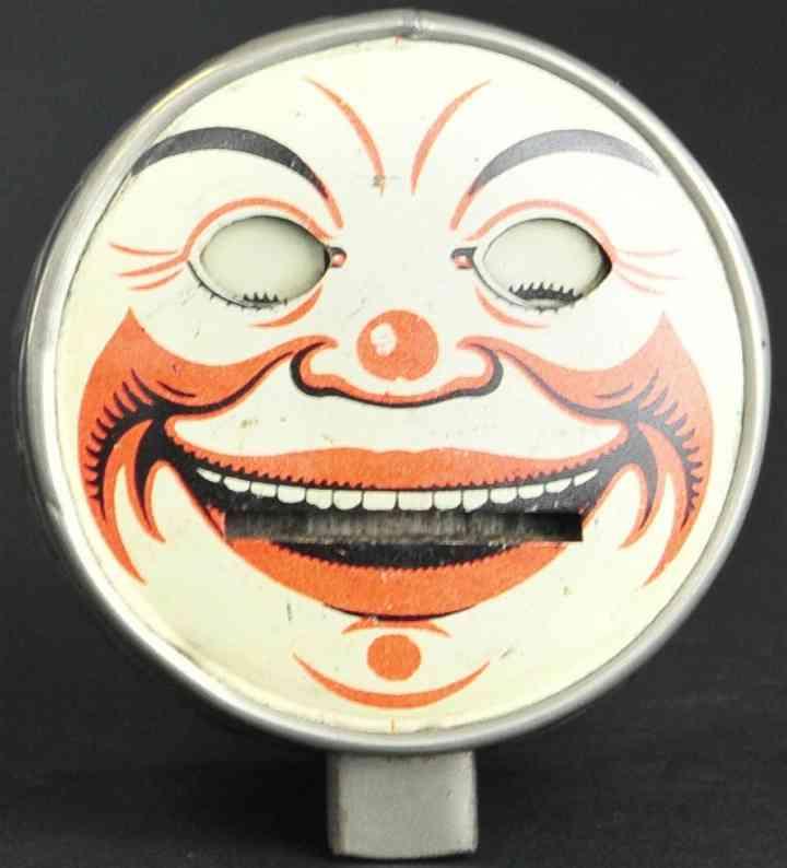 blech spielzeug rundes clowngesicht typ 2 als spardose