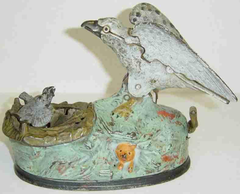 Eagle and Eaglettes mechanical bank