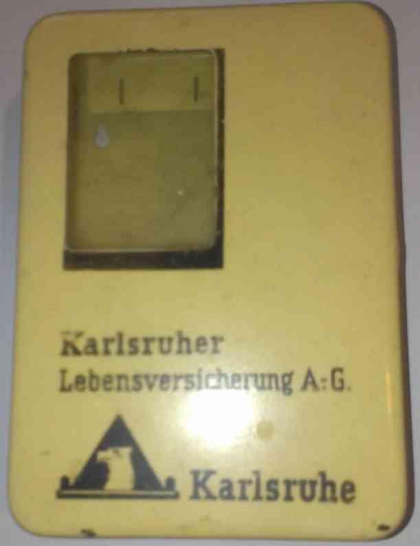 Tin mechanical bank Karlsruher Lebensversicherung AG