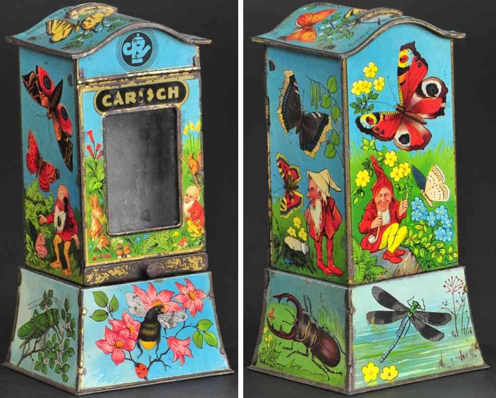 blech spielzeug zwerge und insekten als verkaufsautomat