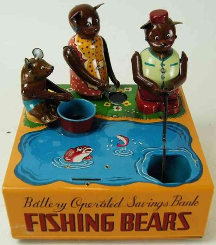 Wakasuto Toy Angelnde Bären als Spardose