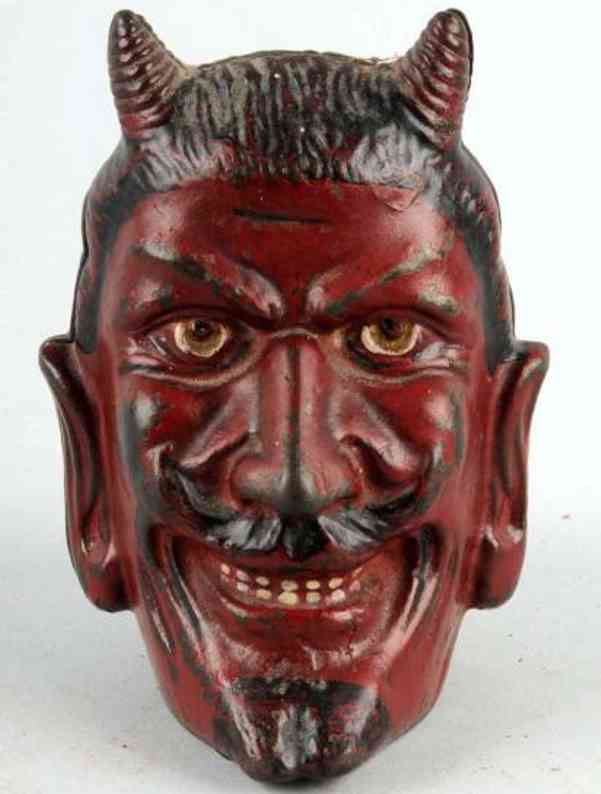 williams ac cast iron toy 2-faced devil still bank