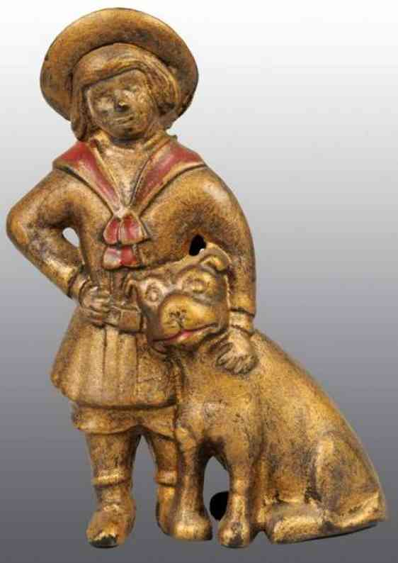 williams ac cast iron toy buster brown tige still bank