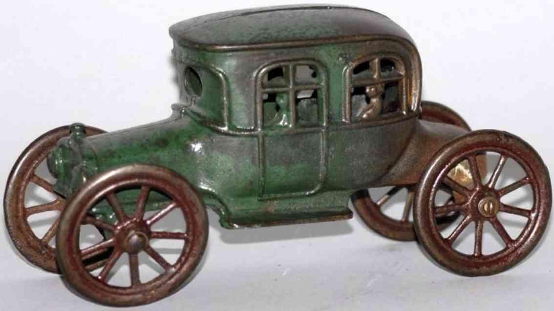 williams ac cast iron toy car still bank