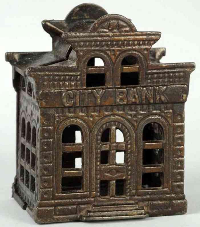 williams ac cast iron toy city bank still bank