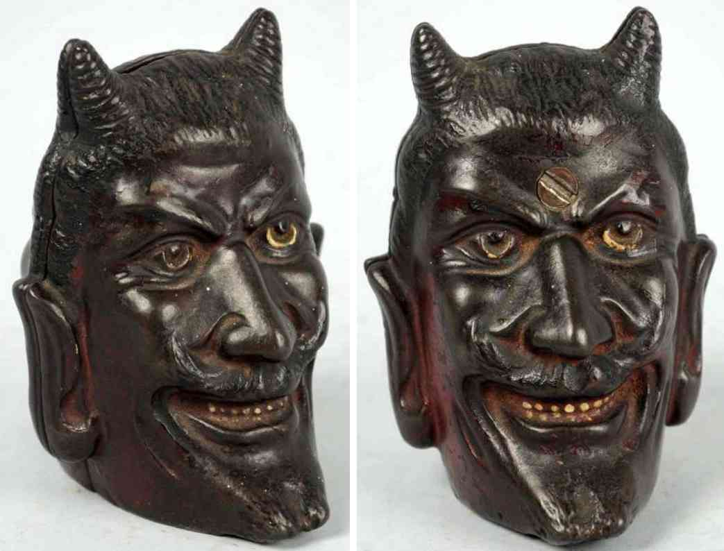 williams ac cast iron toy two-face devil still bank