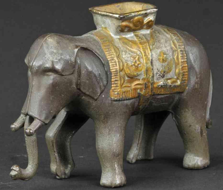 williams ac gusseisen spardose elefant mit schwingendem ruessel