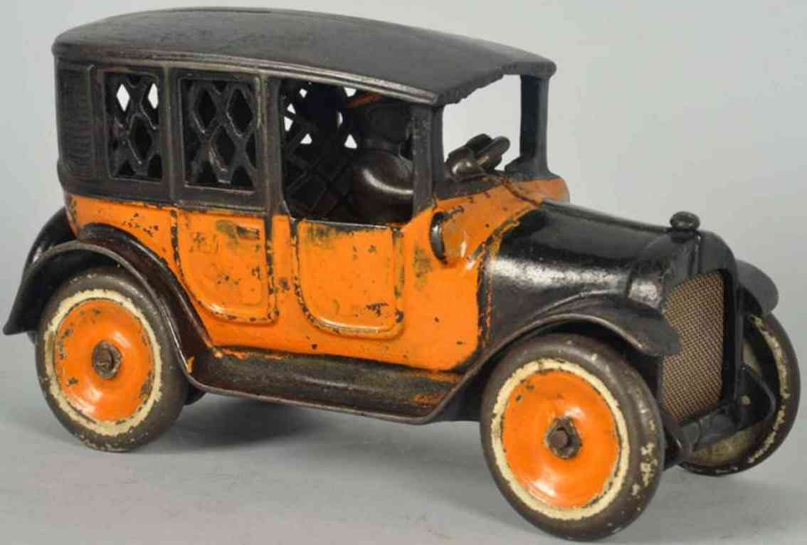 Williams AC Taxi in orange und schwarz als Spardose aus Gusseisen