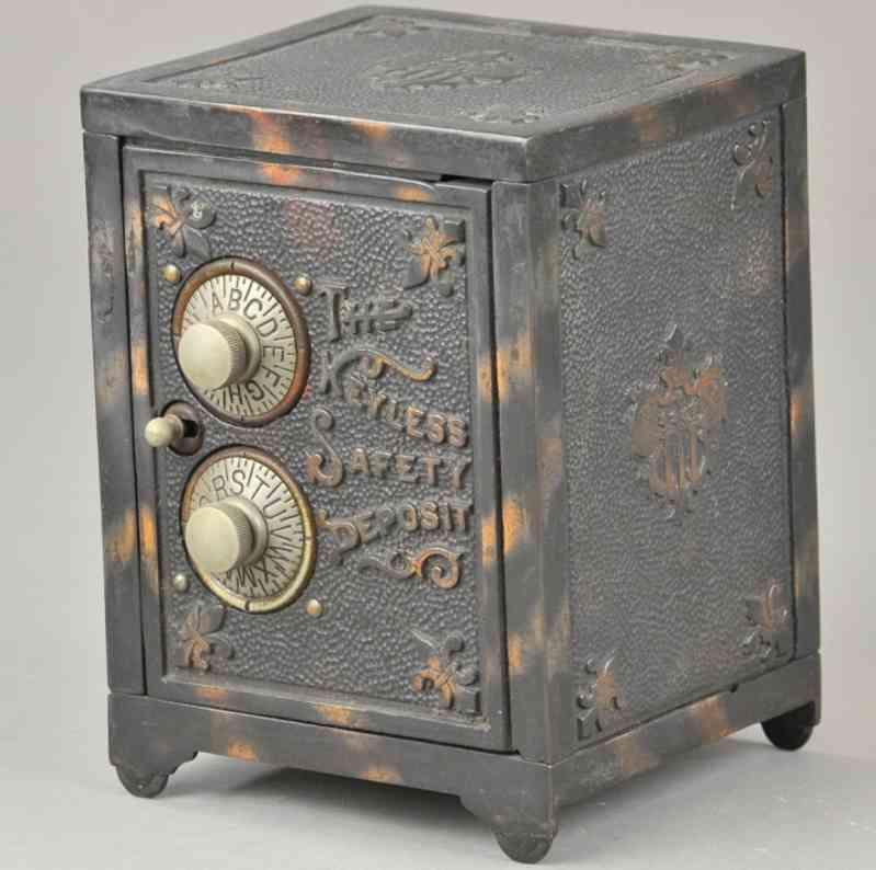 keyless lock co Safety Deposit 5,875 spielzeug gusseisen spardose safe als spardose aus galvanisiertem gusseisen, zwei zahlens