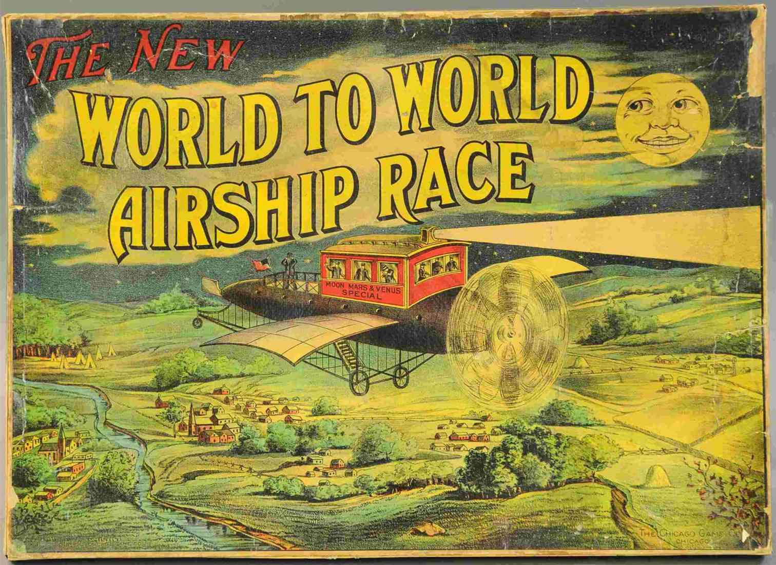 chicago game co board game world to world airship race chicago moon mars venus