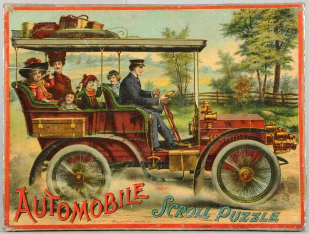 mcloughlin brothers board game automobile puzzle