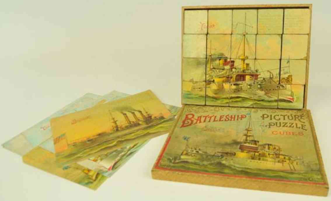 mcloughlin brothers board game battleship puzzle cubes