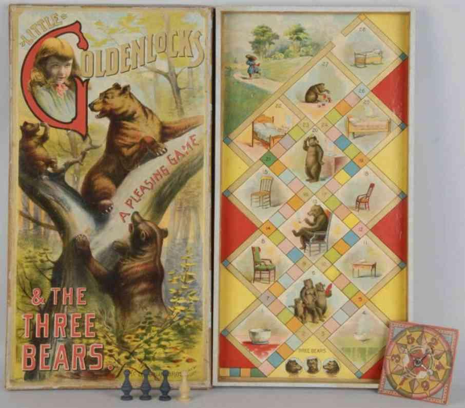 McLoughlin Brothers Gesellschaftsspiel Goldenlocks mit drei Bären Bruin Mammy and Tiny
