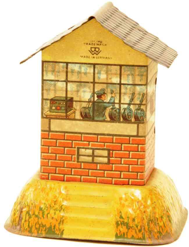 bing railway toy small signal box house