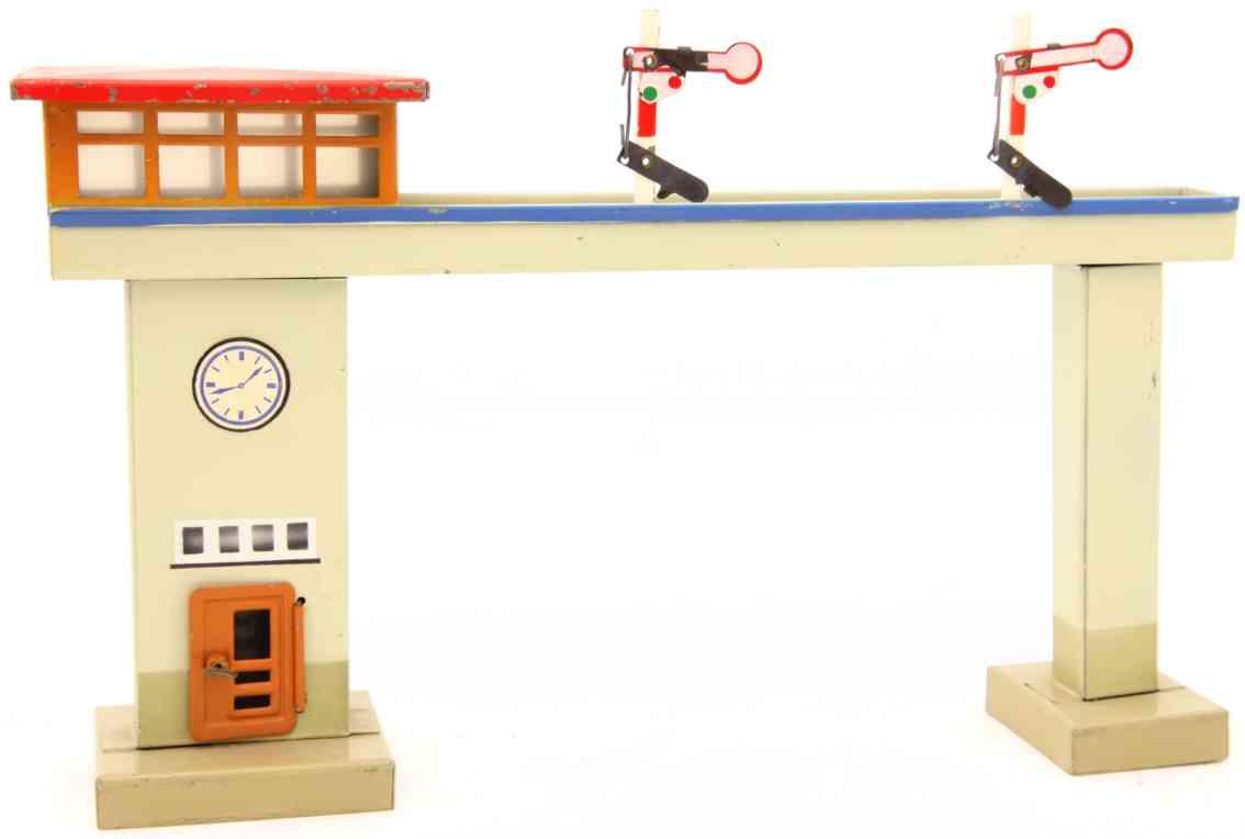 kibri 0/48/29 railway toy tower bridge interlocking two wing signals