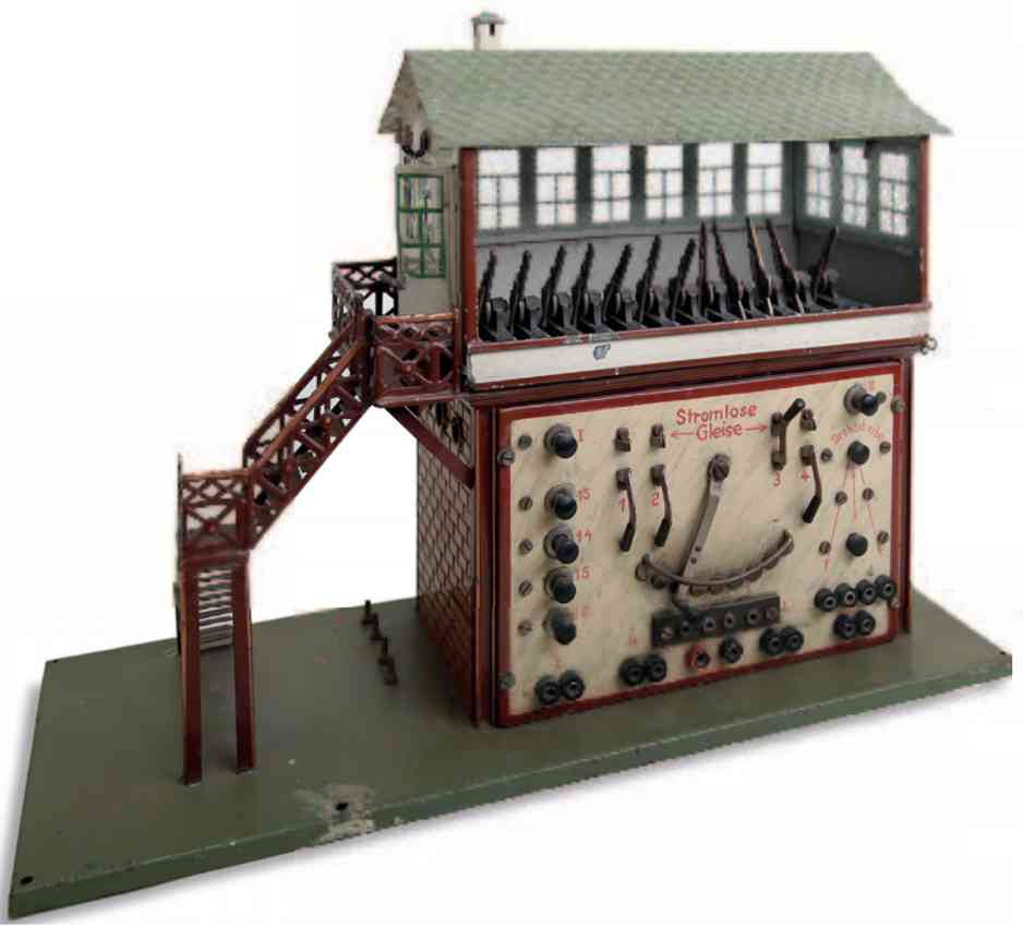 marklin maerklin 3739 railway toy signal tower signal box heavy current