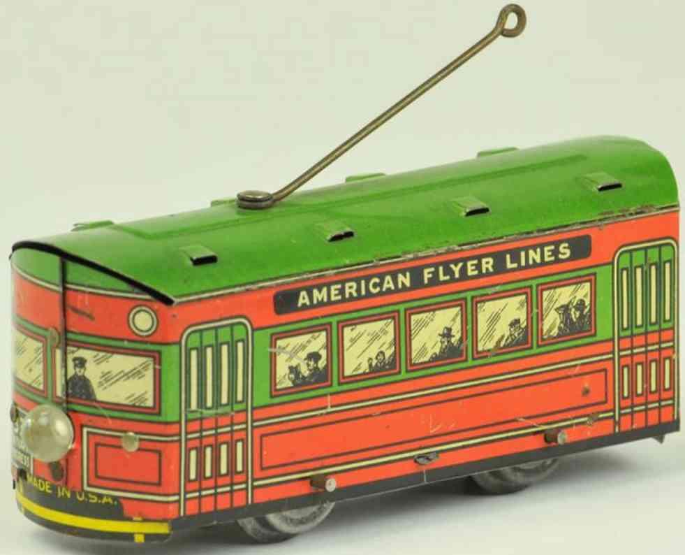 american flyer blech spielzeug strassenbahn