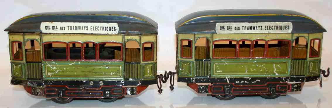 bing 180/39/0 tin toy tram 2 streetcars