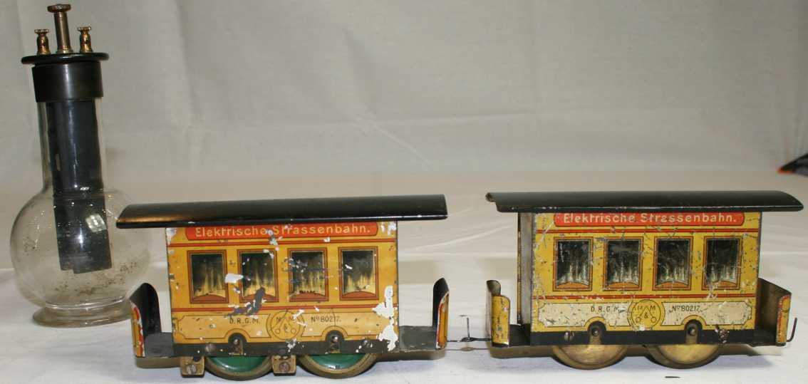 bing 8041 tin toy electric tram chromic acid battery meiser & mertig low power current