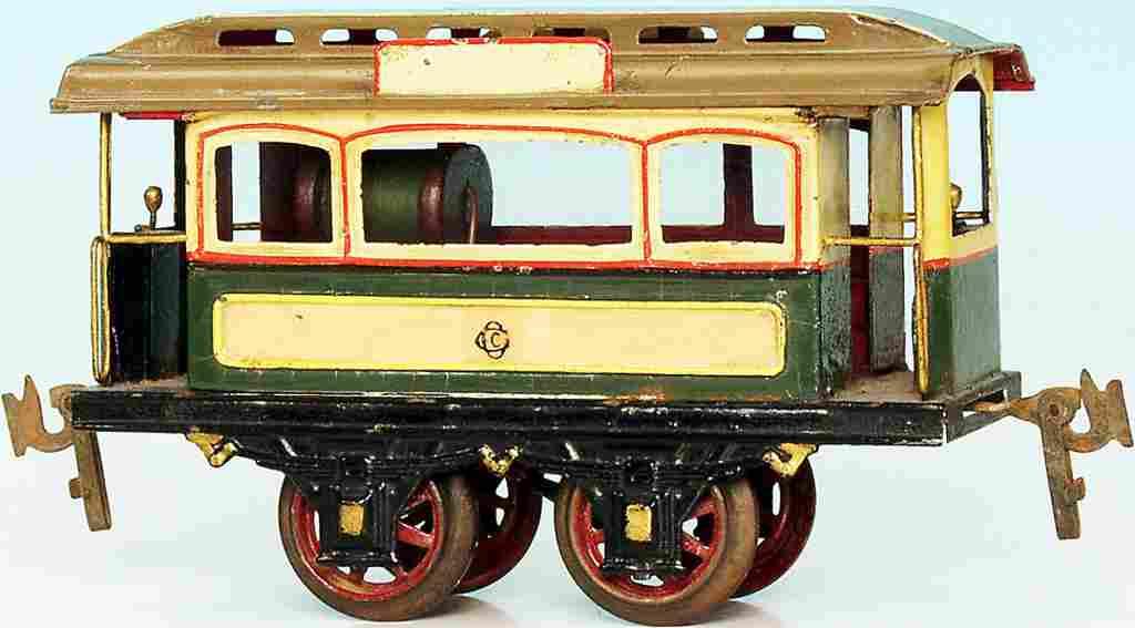 carette 1046 blech spielzeug strassenbahn motorwagen