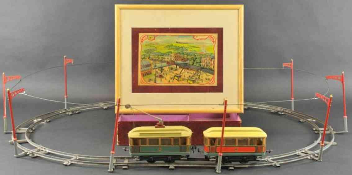 carette 1091/52 blech spielzeug elektrisches strassenbahnset