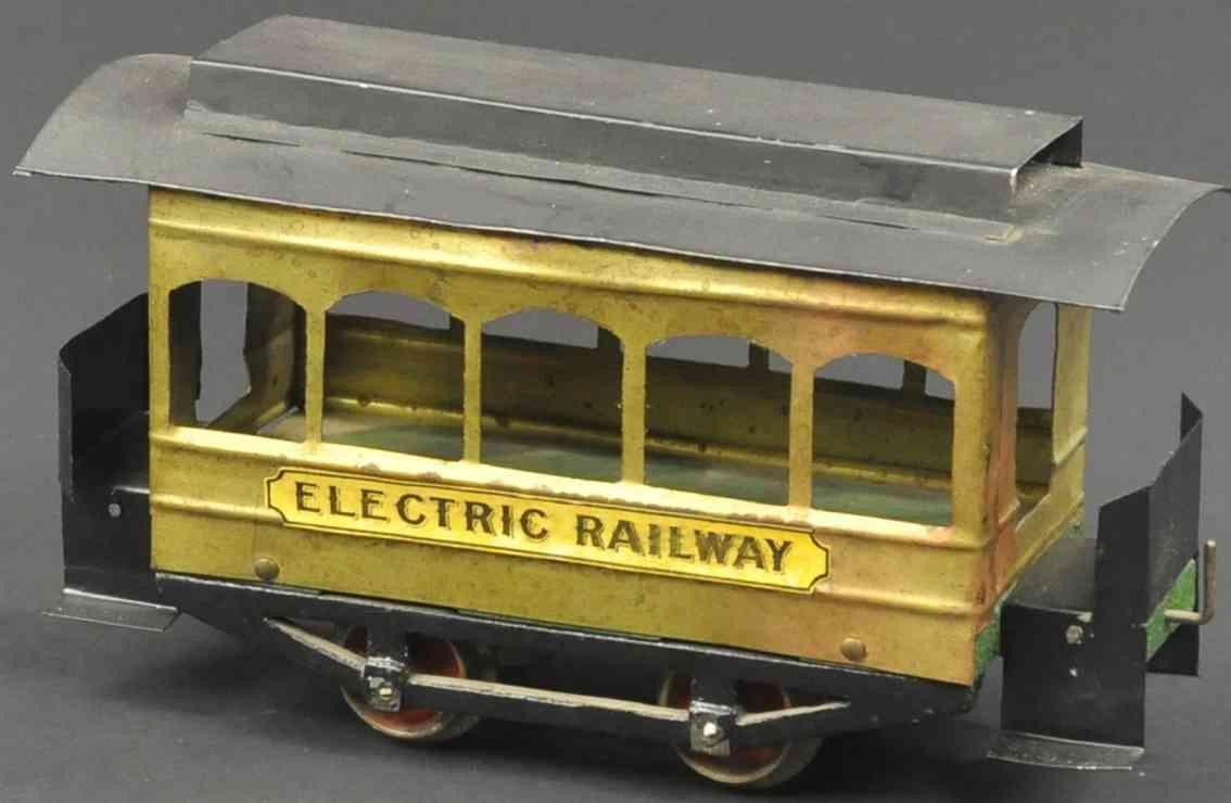 carlisle & finch 1 elektrische strassenbahn messing