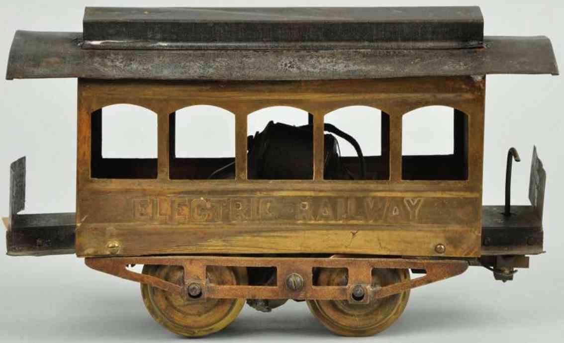carlisle & finch blech spielzeug elektrische strassenbahn