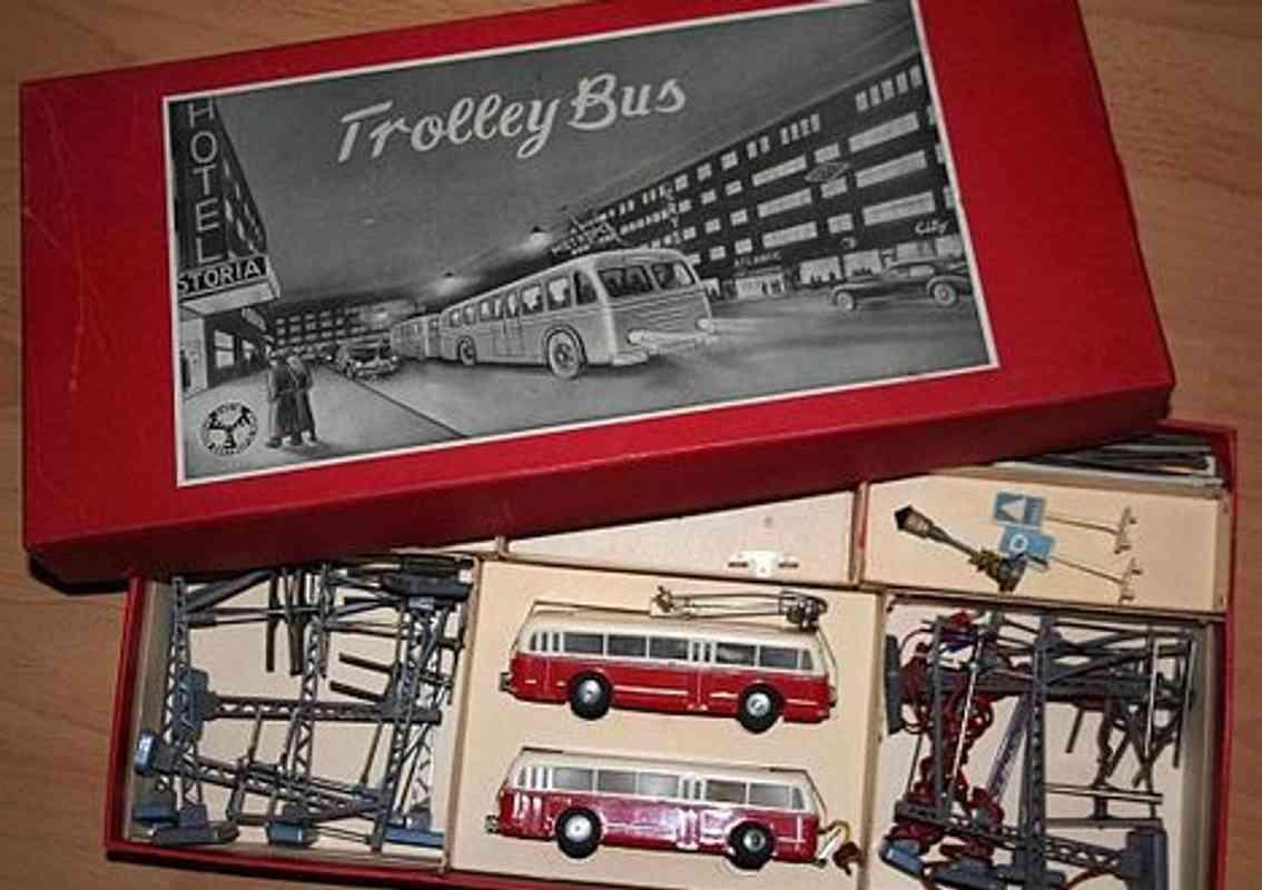 eheim blech spielzeug strassenbahn trolleybus set für märklin oder trix spur ho