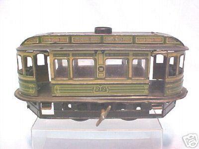 guenthermann 212 blech spielzeug strassenbahn uhrwerk