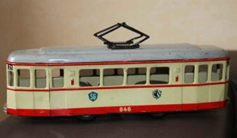 guenthermann 846 blech spielzeug berliner strassenbahn friktionsantrieb sg