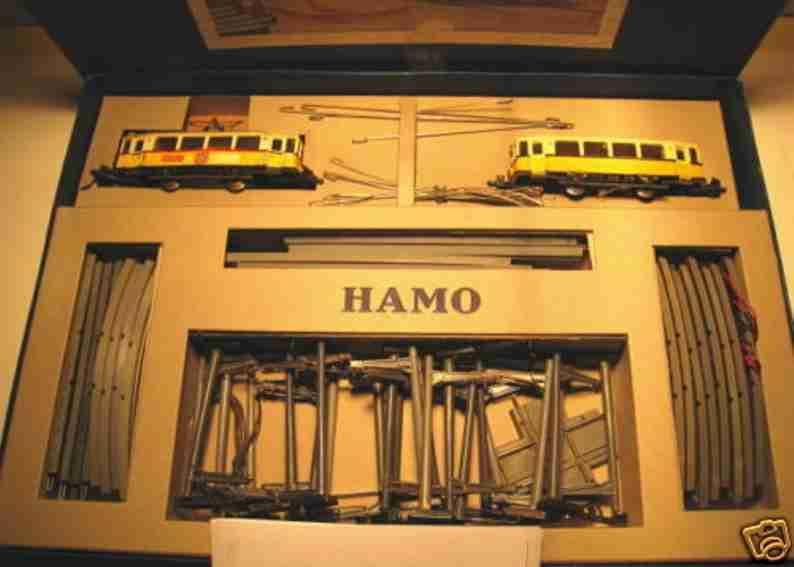 Hamo 100 Strassenbahn-Schaukarton für Ober- und Unterleitungsbetrieb