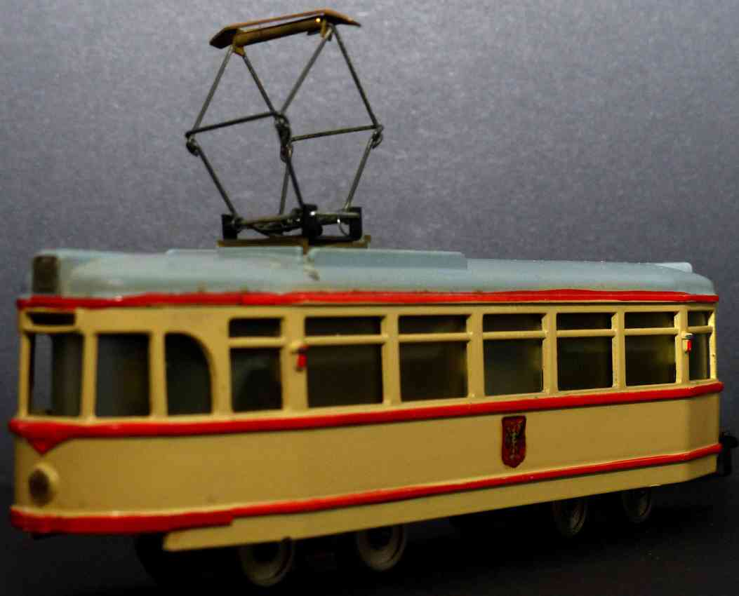 hamo spielzeug gusseisen strassenbahn stadtwappen