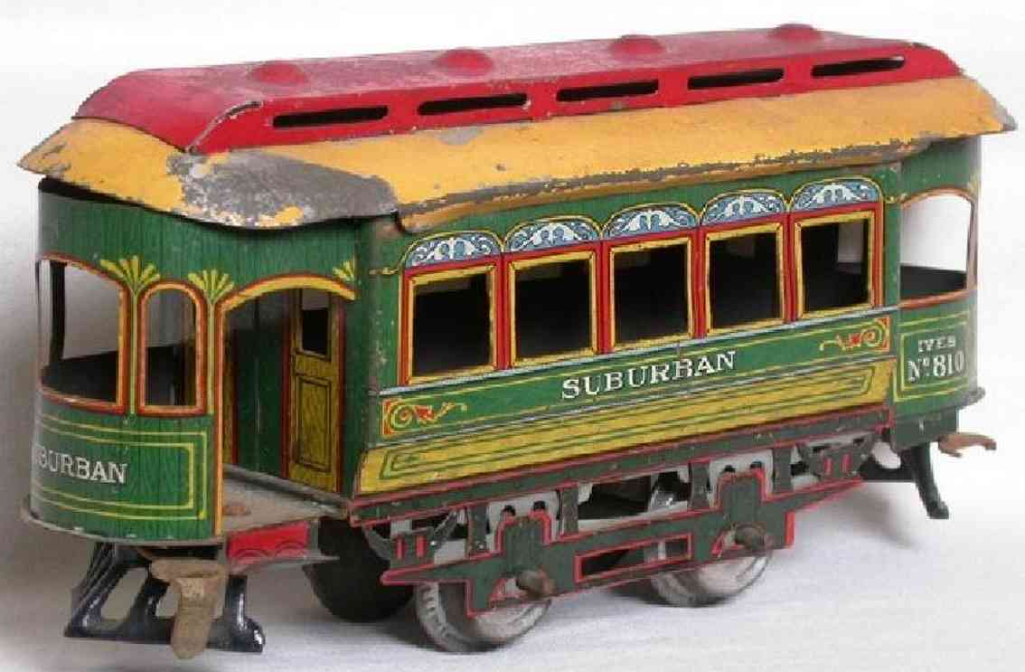 ives 805 (809/810) tin toy tram the number 805  never appears on the trail car. that  was  t