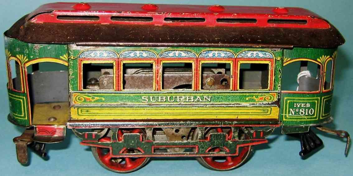 ives 809 (911 tin toy tram earliest clockwork trolley