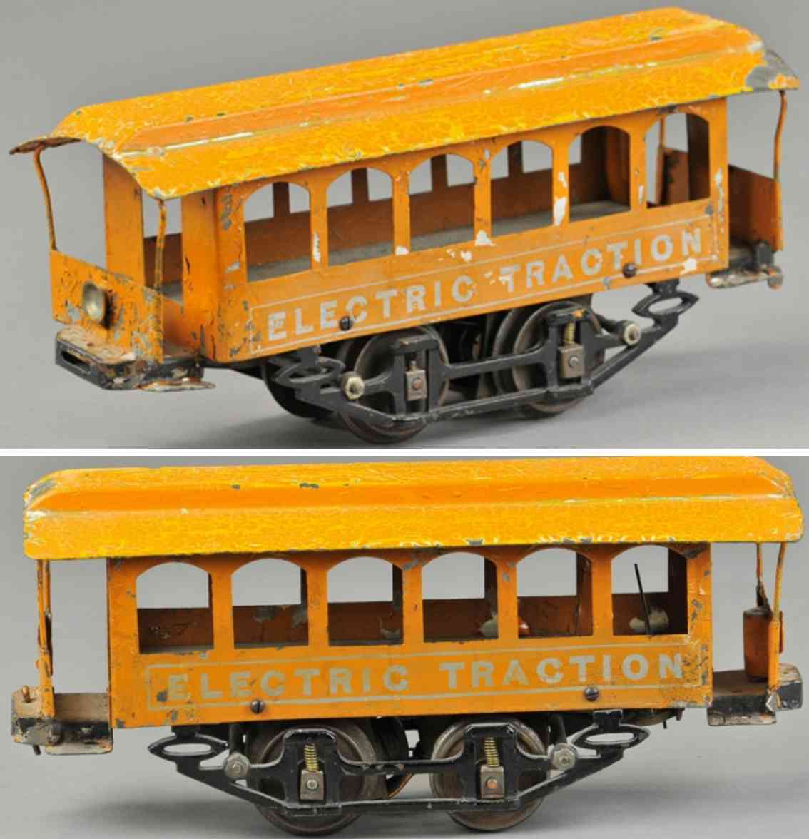 knapp electric and novelty company 4 strassenbahn  orange 2 inches