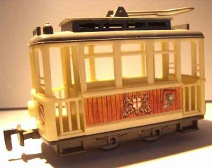 lehmann 970 tin toy tramcar of gnomy series