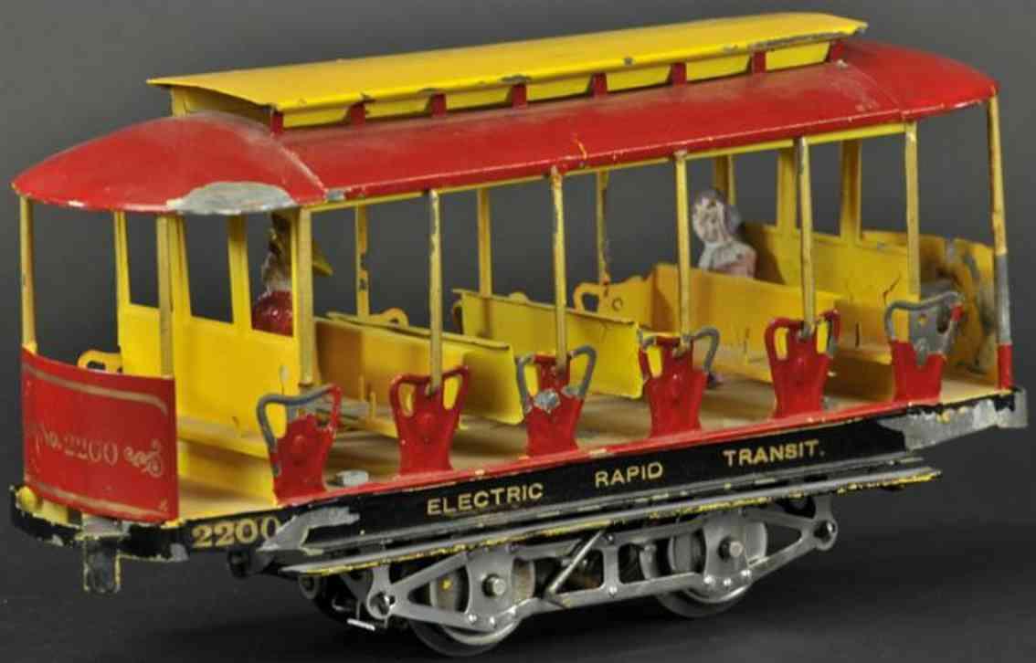 lionel 2200 blech spielzeug elektrische schnellbahn sommer-strassenbahn