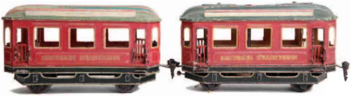 marklin maerklin 01071 1076/1 tin toy tram motor car with trailer gauge 1
