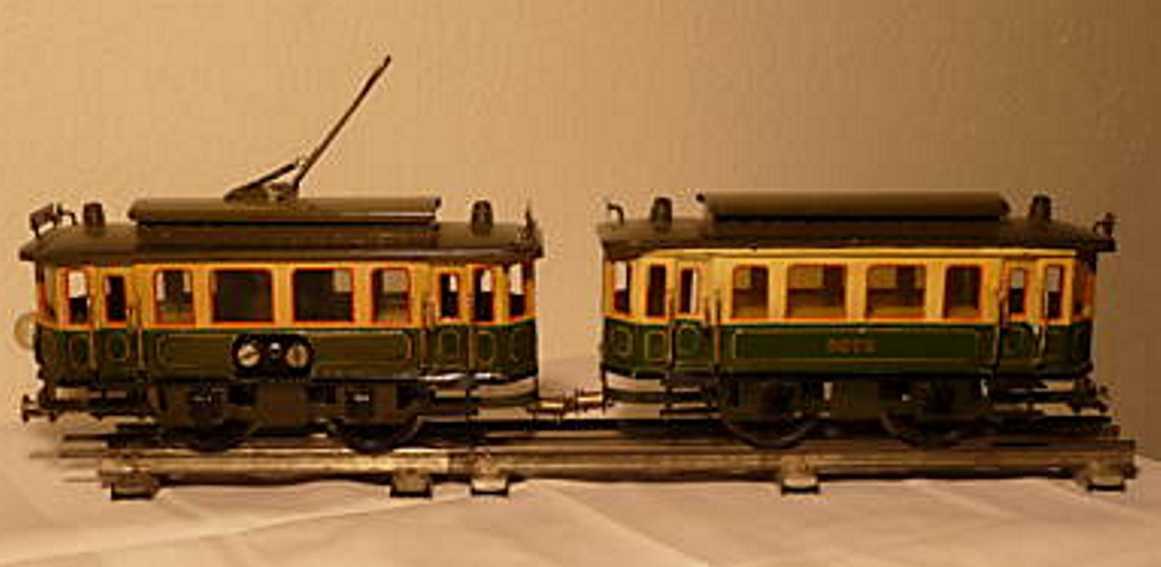 maerklin 13070/72G blech spielzeug strassenbahn straßenbahn-garnitur bestehend aus 20-volt antriebswagen 130