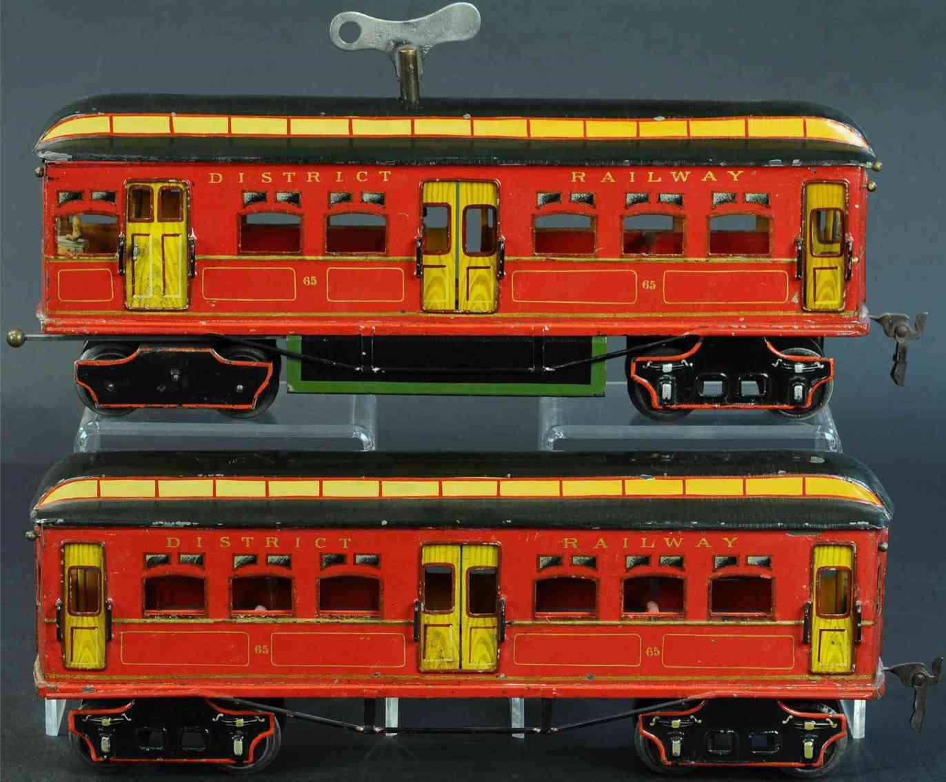 marklin maerklin tin toy trolley district railway tram set clockwork gauge 1