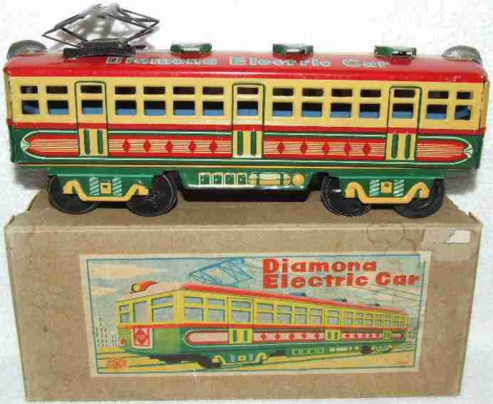 masudaya modern toys blech spielzeug diamona strassenbahn friktionsantrieb